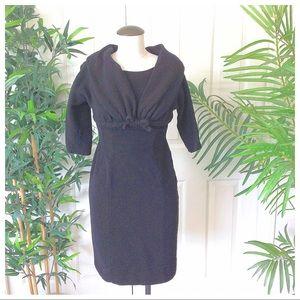 Vintage Harco Originals 1950s Black Sheath Dress